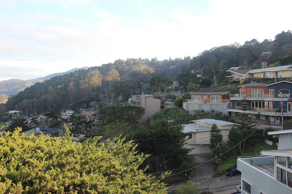 View from top floor deck