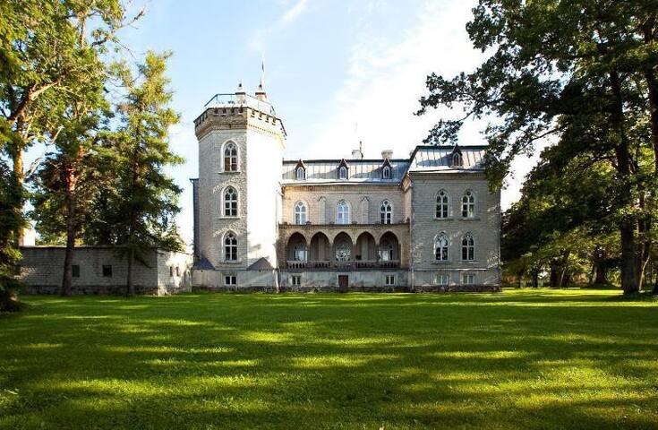 Laitse Castle's backyard.