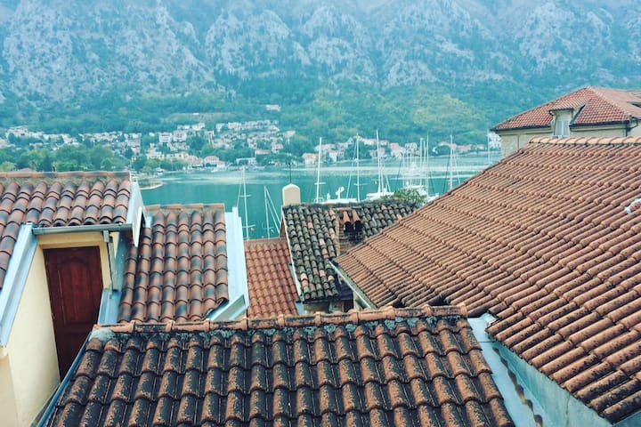 Terrace with views on Kotor Bay - ready soon!