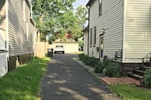 Private driveway with FREE offstreet parking! The side door with an inside shared entrance (hallway) with 2 landings.