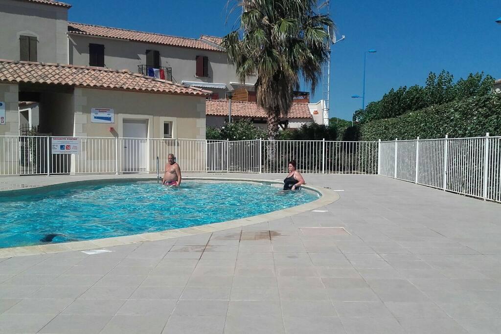 piscine de la résidence sécurisé