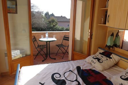 Étage privé - 2 chambres ac balcon - Pégomas