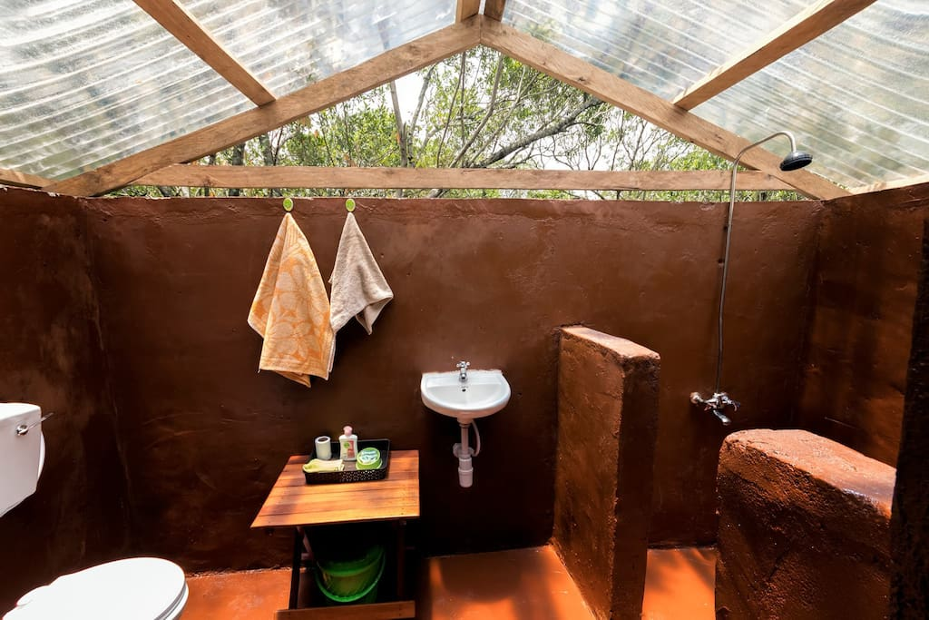 Simba Cottage Tent ensuite WC and Shower
