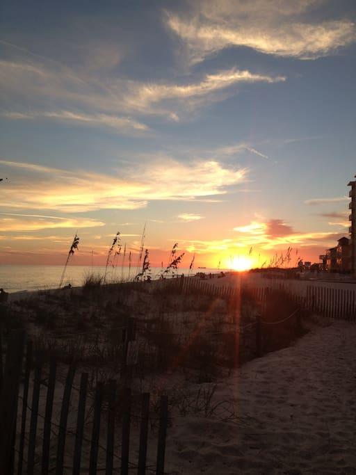 One of Sunchase's many spectacular sunsets!