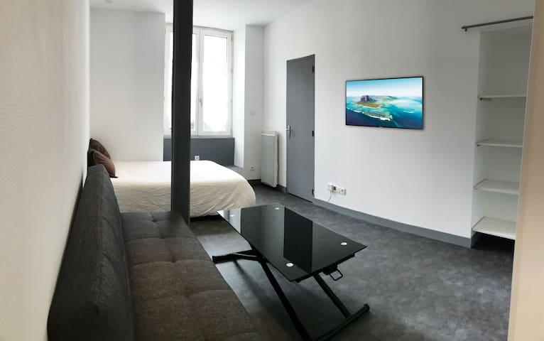 Grand studio équipé 23m2 centre ville d'Angers