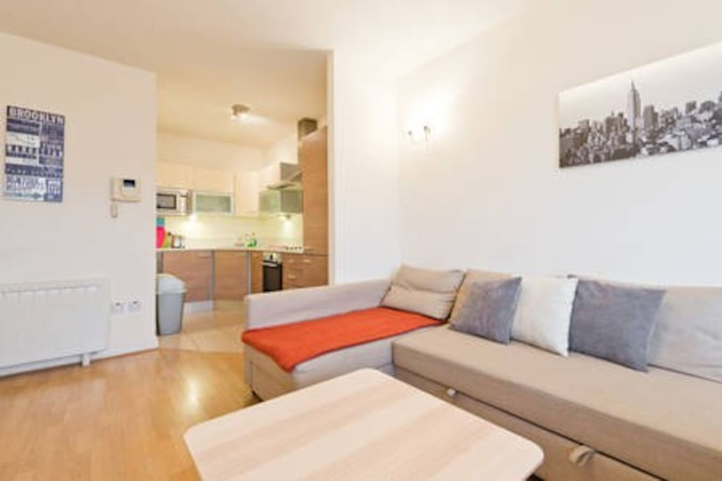 Sitting room and kitchen corner