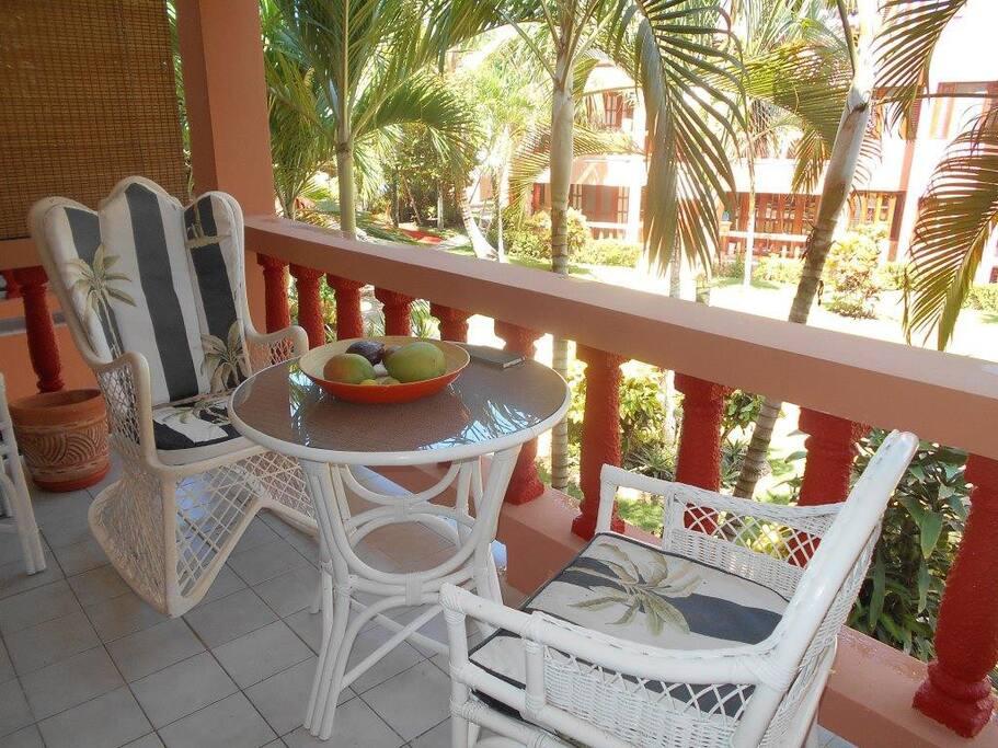 Enjoy the balcony!