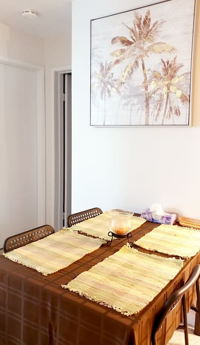 Eating area with dining table
