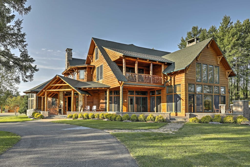 This mountain manor boasts 5 bedrooms and 6 bathrooms near downtown Lake Placid!
