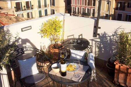 Cute penthouse with private roof terrace in Palma - Palma de Mallorca - Apartment