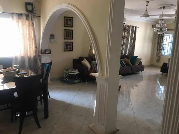 A four bedroom fully air conditioned house