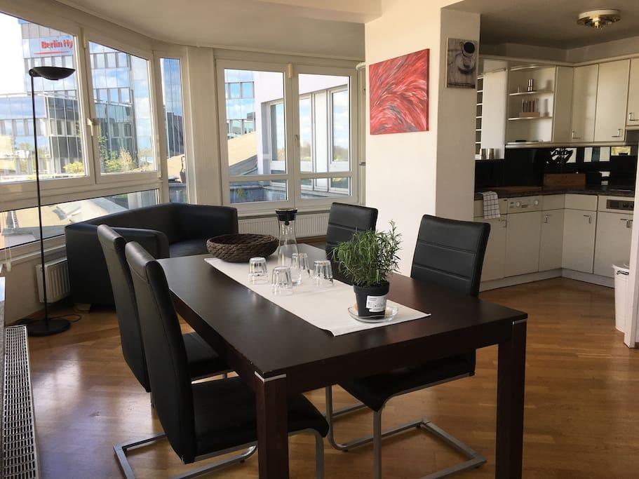 Living Area & Kitchen 1st Floor