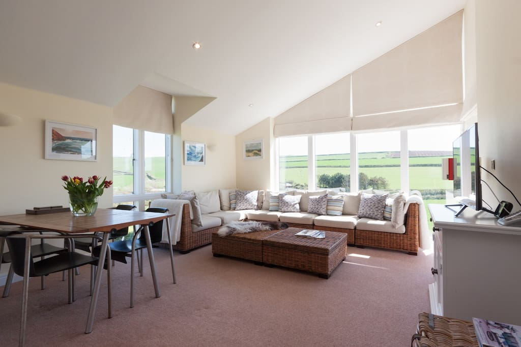 spacious open plan living area