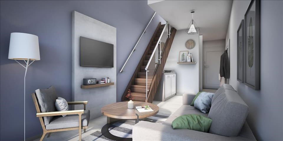 Modernes Duplex Zimmer