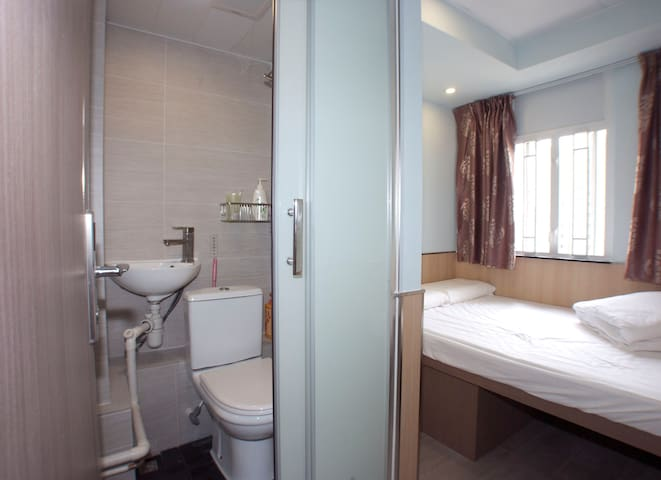 旺角區大床房-Double Room @Mong Kok City Centre For 1 to2