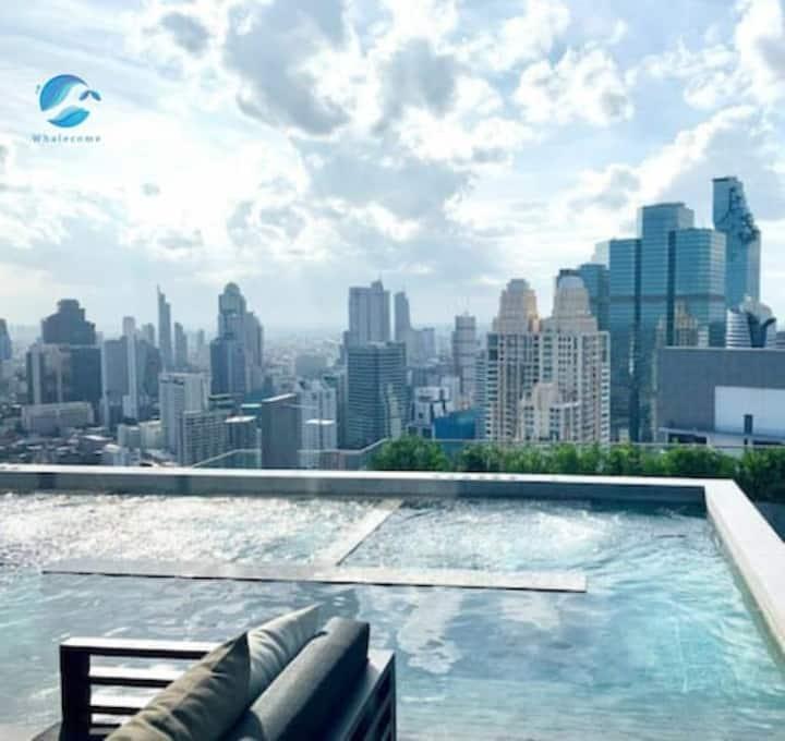 Sky pool Luxury Condo Sathorn CBD&5mins BTS【no.5