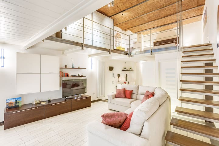Chic Loft in a Restored Couch House