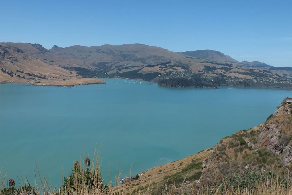 Lyttelton Harbour just over the hill