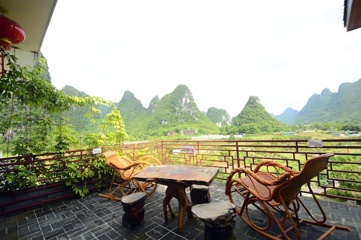 Yangshuo EdenGarden River View Delux Balcony Suite - Guilin - Villa
