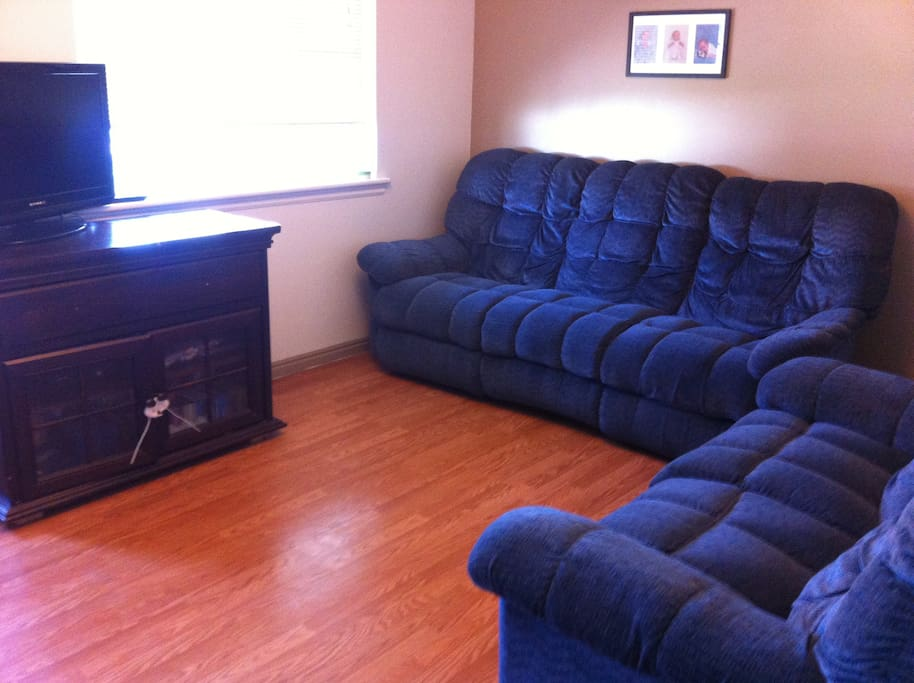 Seating for five. Relax and watch Netflix or enjoy each other's company.