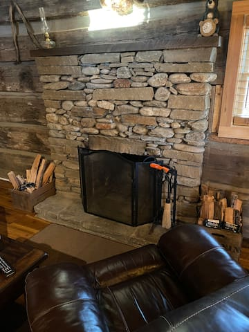 Your kindling, fire starter and lighter as well as firewood on the porch is ready.  If you need help or more fire starter just give me a call.