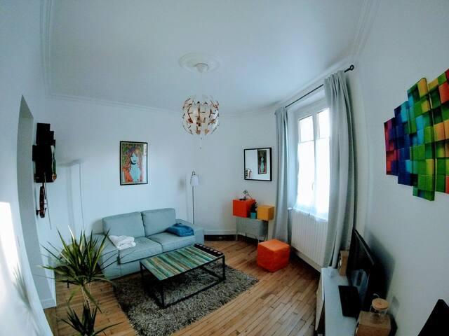 2P 35m2, calme absolu, porte de Paris et bois - Charenton-le-Pont - Appartement