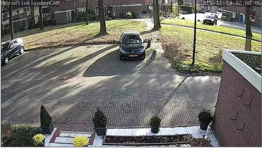 autum in Enschede... vieuw on the parking place Hesselinklanden 66 enschede