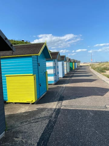 BEACH HUT for hire on South Lowestoft sandy beach