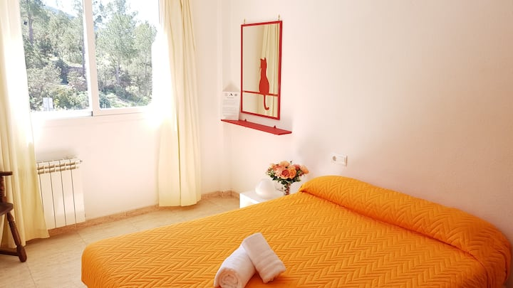 ☮Large, Quiet & Clean room  in the ❤️ of S.Eulalia