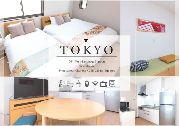 [Discount!] 5min from Sta/5ppl/Near Haneda/1F