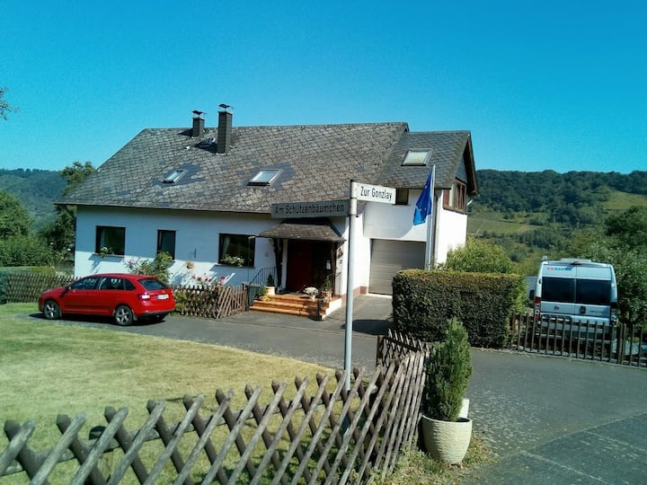 Quiet holiday flat with view of Mosel vineyards