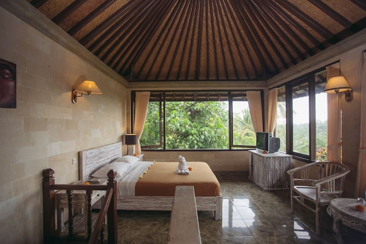 Ubud Room, Nice View, AC, Spring water