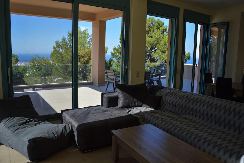 Sitting area and veranda