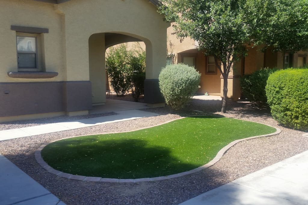 Front yard (artificial turf) always looks so nice!