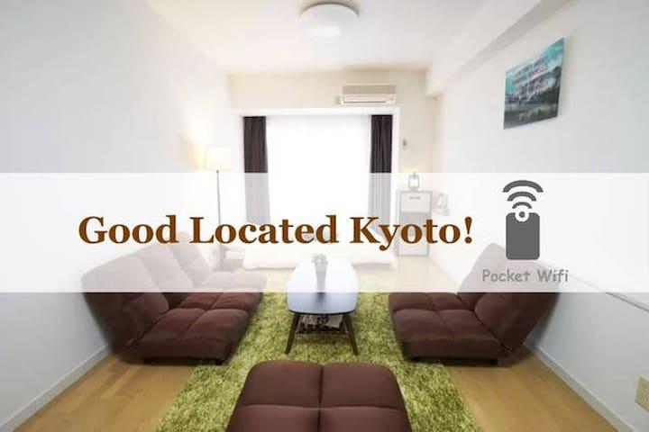 GoodLocated Kyoto+mWifi,2Bikes #KY1