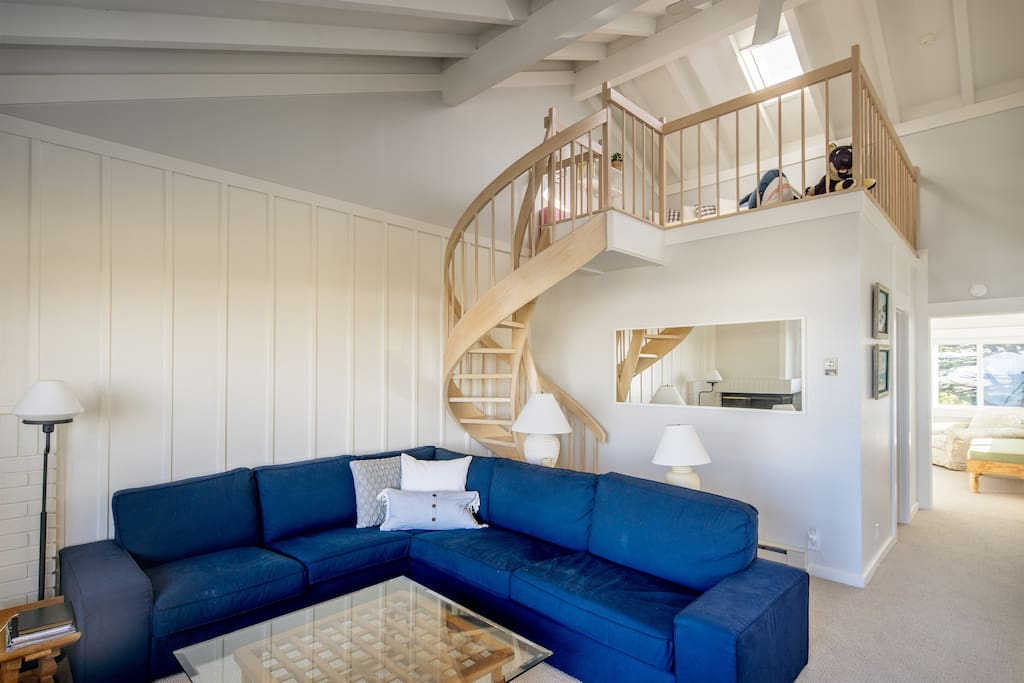 Stairs to the loft - kids have their own hideout!  Quiet time for adults?