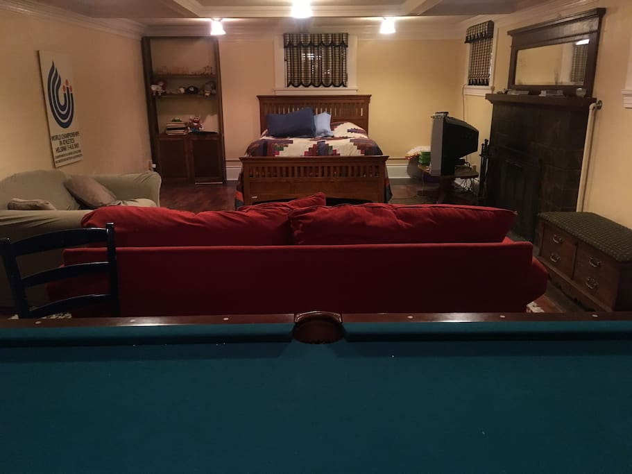 We call the apartment the Pool Room since there is a standard pool table