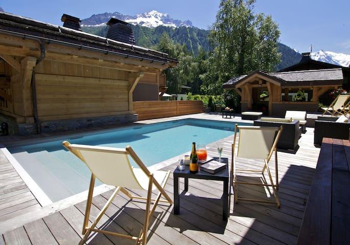 Chalet Cristal - 12 people - piscine spa jacuzzi - Chamonix-Mont-Blanc - Chalé