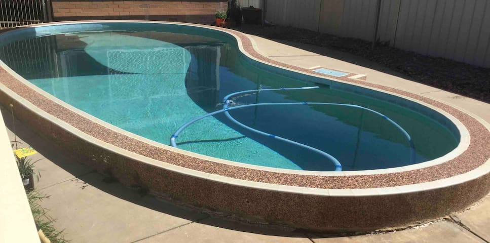 swimming pool access close to beach and airport