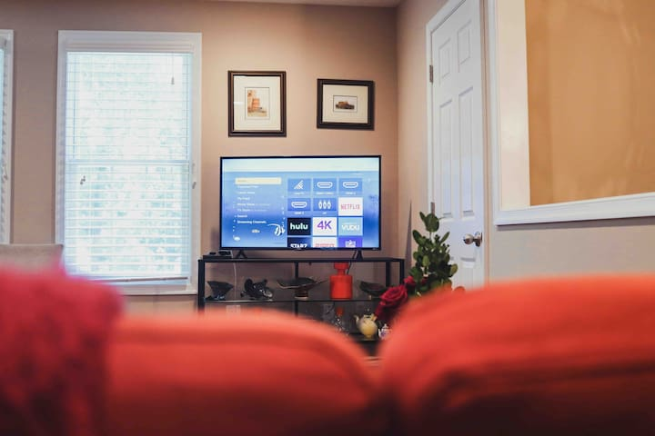 Come back at the end of the day and enjoy some Television, Netflix, Hulu, or any other options you can find on this Roku TV.