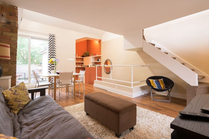 Private Upper Suite in Townhome