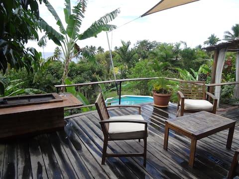 Villa de charme  à 100 m de la plage sur Poindimié