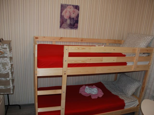 "family with bunk beds. Hostel ""Svoi"""
