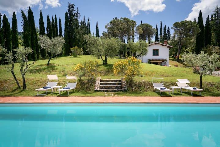 """Chianti Villa Claro view and pool """" il Cipresso """""""