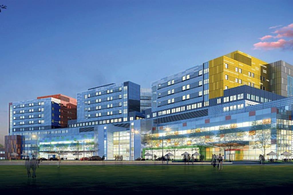 Centre universitaire Mc Gill a 10 mins a pied Children Hospital ,               Royal Victoria , Institut Thoracique Centre du cancer