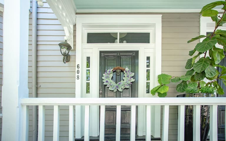 Walk-up three short steps to the entrance of your home.