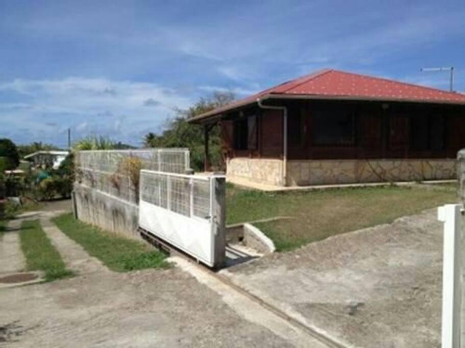 Accès entrée bungalow