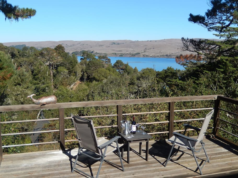 Tomales Bay view from our deck.