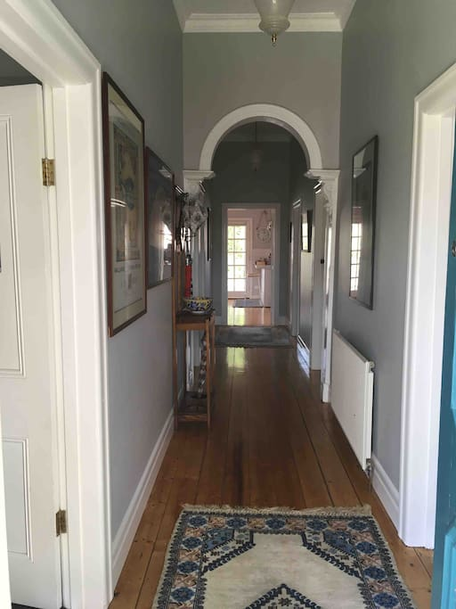 Hallway from front door during the day
