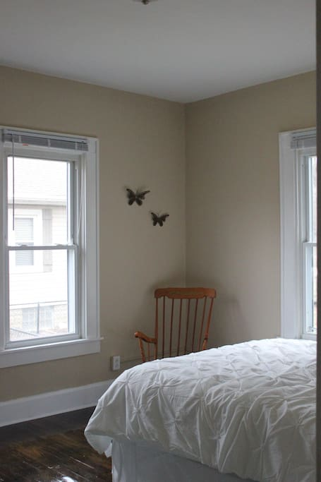 View from the master bedroom door. The light in this room is amazing!